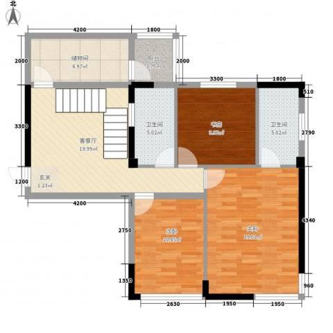 安泰大厦3室1厅2卫0厨234.00㎡户型图