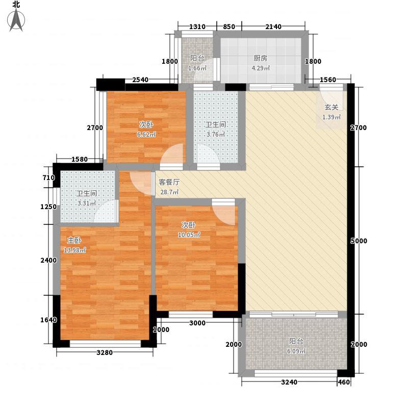 绿茵温莎堡香堤1.65㎡109-112/114栋02/03户型3室2厅2卫1厨