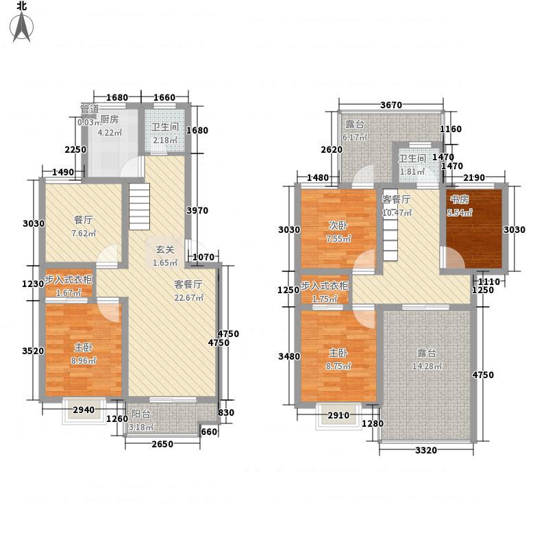 加州第一城163.58㎡A6y+复式一期户型4室4厅2卫1厨