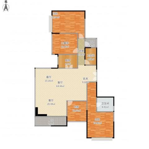 山语清晖花园4室1厅2卫1厨212.00㎡户型图