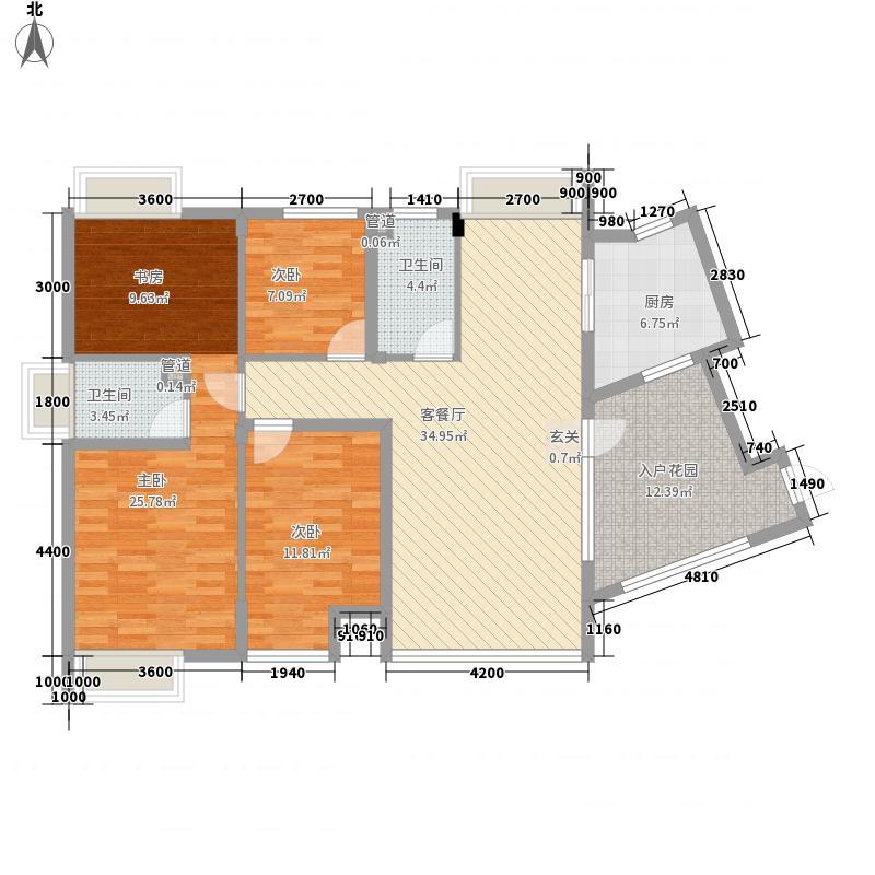 沿海赛洛城138.85㎡G1户型4室2厅2卫