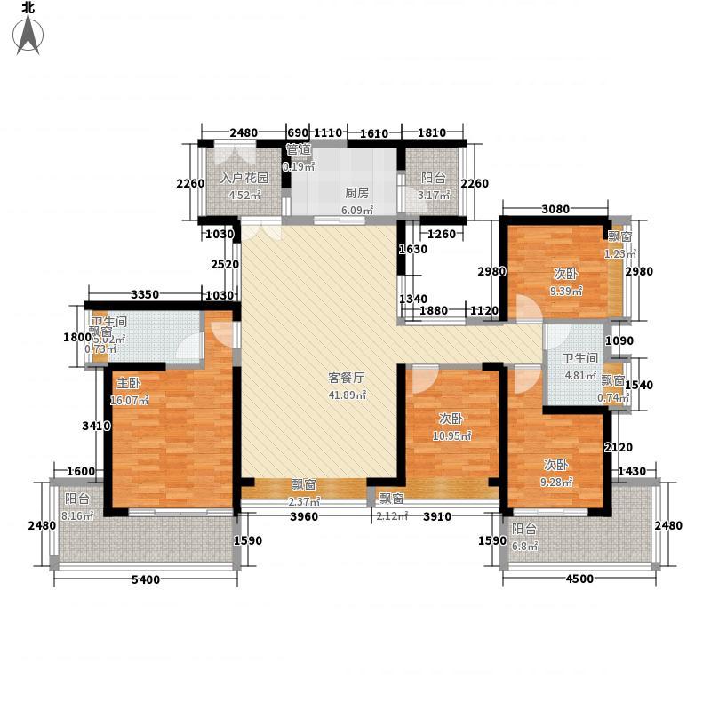 金光华龙岸花园146.00㎡1栋E+F户型