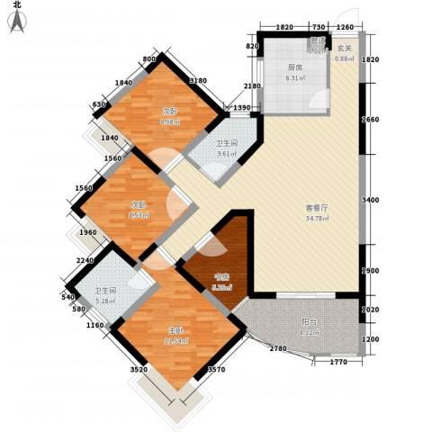 金星家园4室1厅2卫1厨134.00㎡户型图