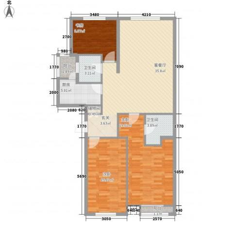 尚层3室1厅2卫1厨132.00㎡户型图