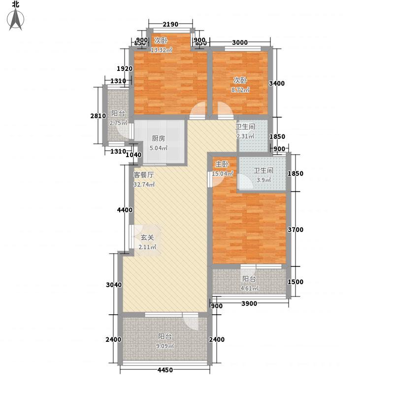 香树湾111.80㎡111户型3室2厅2卫