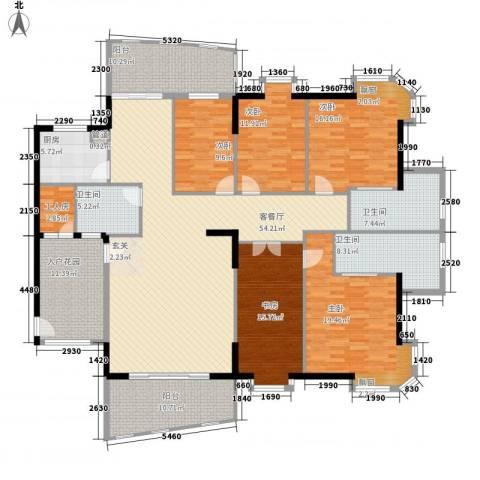 金裕碧水湾5室1厅3卫1厨189.32㎡户型图