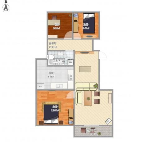 朗庭上郡苑-211-753室1厅1卫1厨93.00㎡户型图