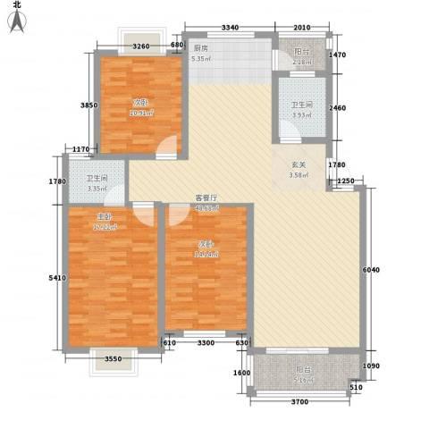 安兴花园3室1厅2卫0厨149.00㎡户型图