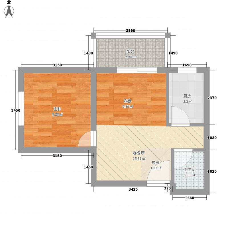 爱佳斯嘉5.00㎡4号楼户型1室2厅1卫1厨