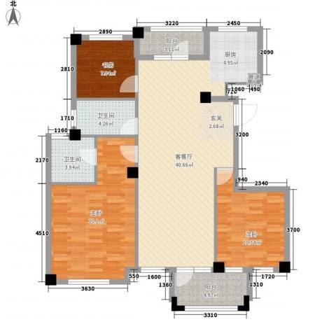 枫华富地3室1厅2卫0厨135.00㎡户型图