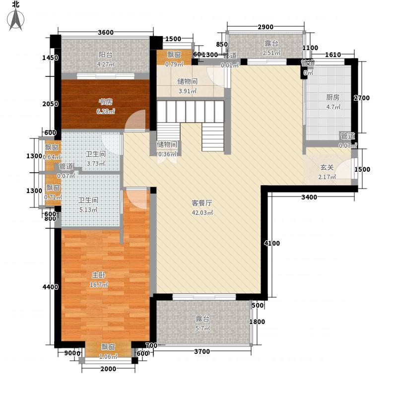 ��温莎公馆14.77㎡3#2701户型4室2厅3卫1厨