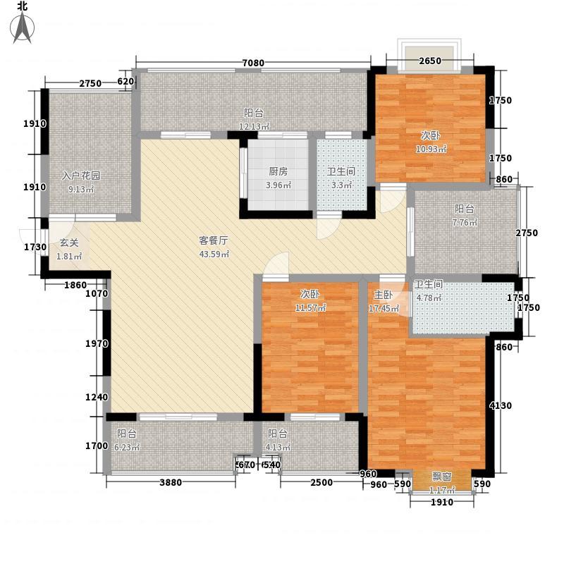 科大御花苑155.42㎡D-2户型5室2厅2卫1厨