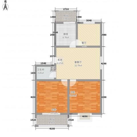 知和颐园2室2厅1卫1厨78.48㎡户型图