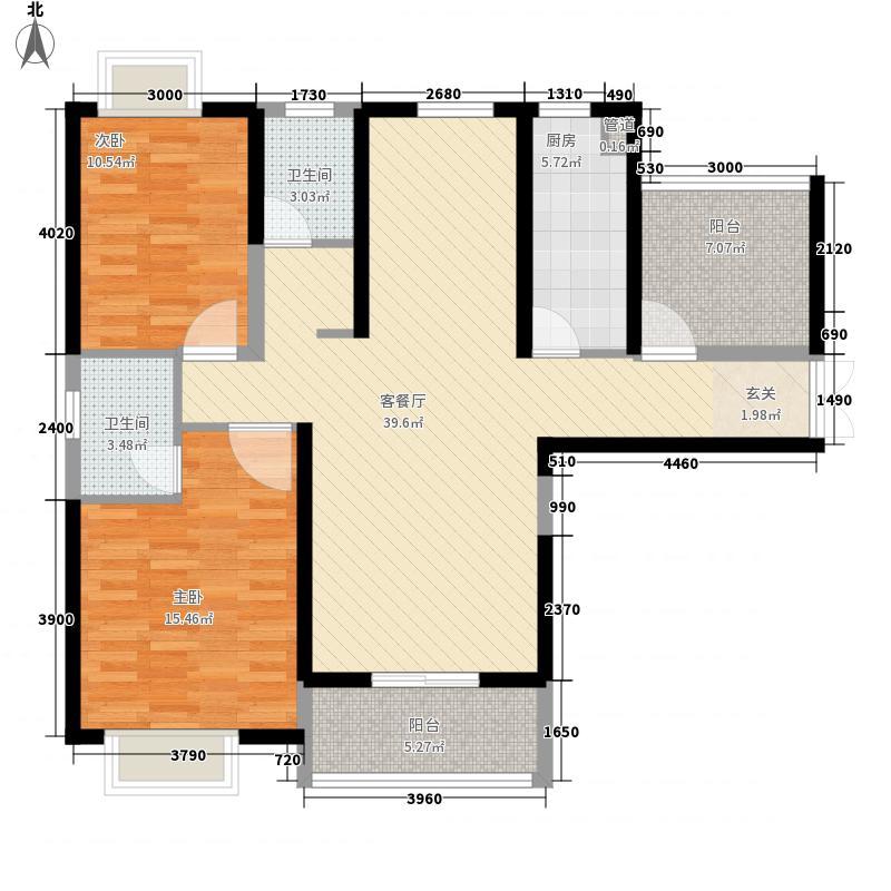紫沙金苑11.50㎡2-4号楼C3户型2室2厅2卫1厨