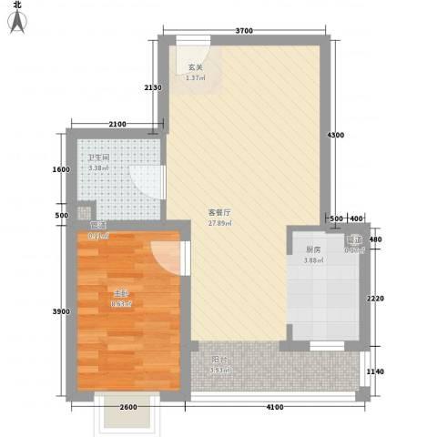 夏威夷南岸二期1室1厅1卫0厨57.00㎡户型图