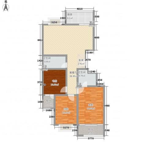 梦想空间二期3室1厅2卫1厨148.00㎡户型图