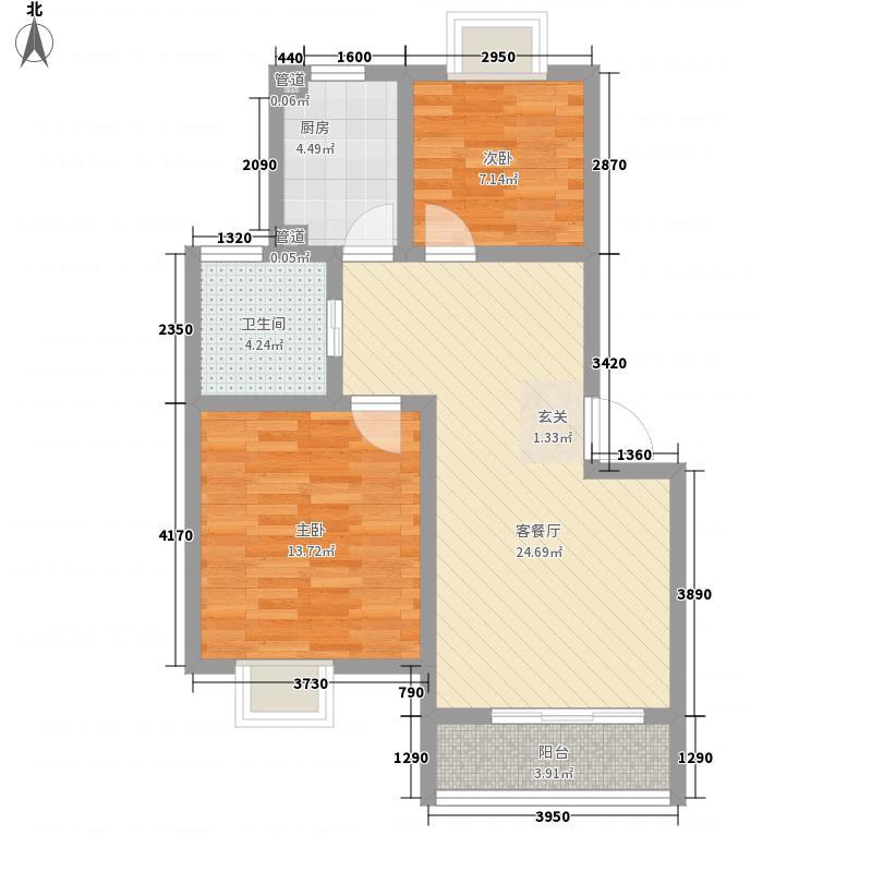 隆基天地广场85.00㎡户型2室
