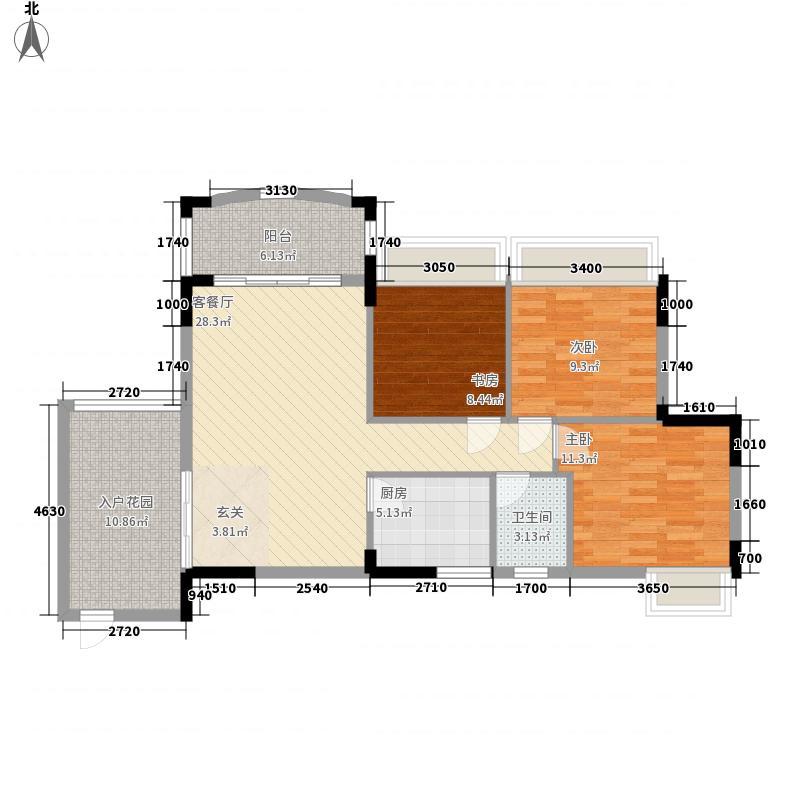 艺都・牛津河畔5.60㎡12号楼04、05户型3室2厅1卫1厨
