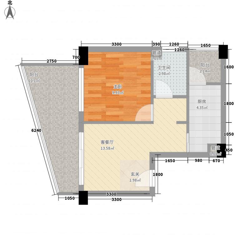 重汽彩世界1E户型1室1厅