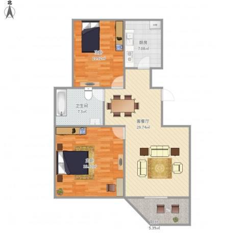 朗庭上郡苑-311-892室1厅1卫1厨89.00㎡户型图