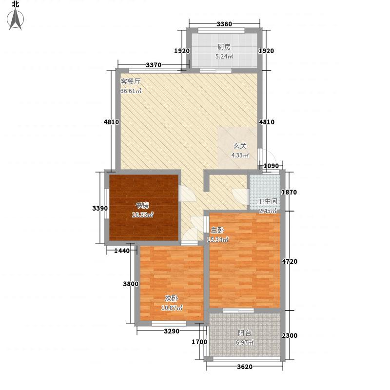如意家园113.00㎡E户型3室2厅1卫1厨