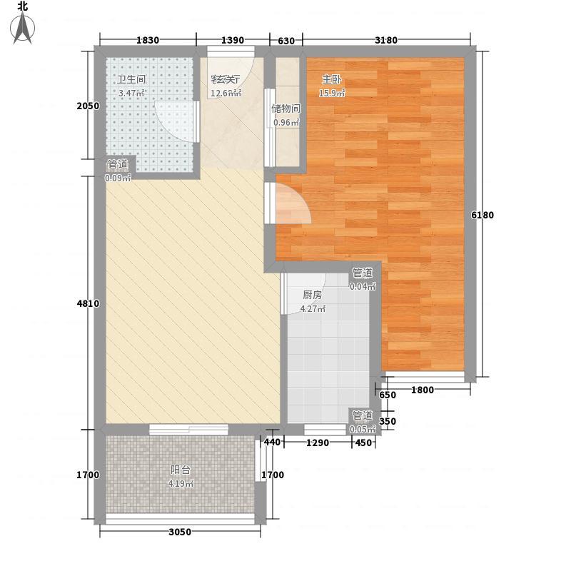 紫藤家园2居室6户型2室2厅1卫1厨
