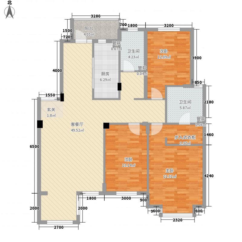 保利上林湾143.00㎡Y5-3户型3室2厅2卫