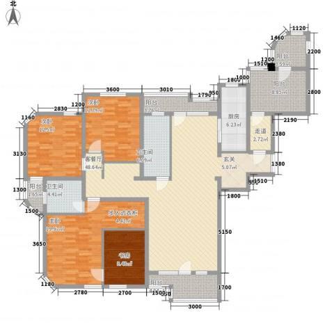 德泰岭秀逸城4室1厅2卫1厨175.00㎡户型图