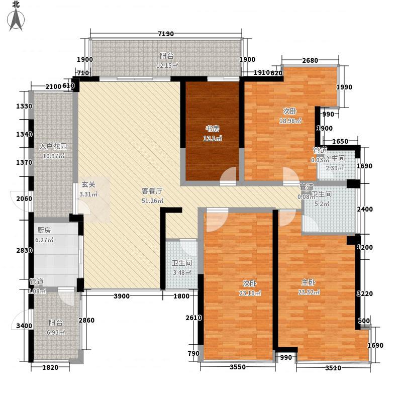 金地外滩8号181.10㎡金地外滩8号户型图1栋标准层03、04单位4室2厅3卫1厨户型4室2厅3卫1厨