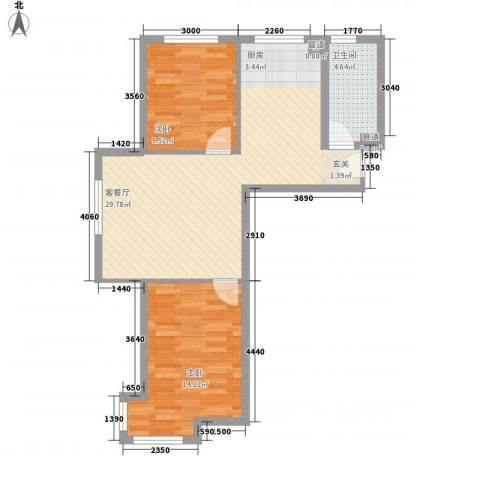 托斯卡纳2室1厅1卫0厨80.00㎡户型图