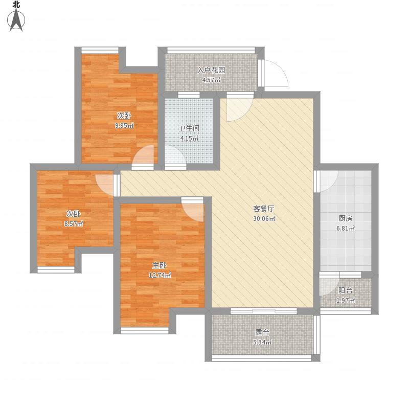 福康瑞琪曼国际社区面积:105.82平米
