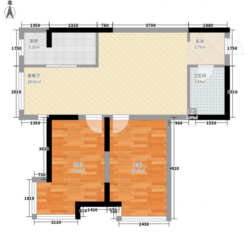 东沙7.00㎡小区户型2室