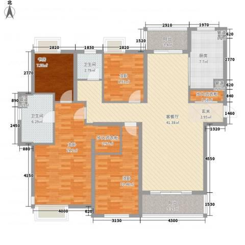 世茂世界湾4室1厅2卫1厨174.00㎡户型图