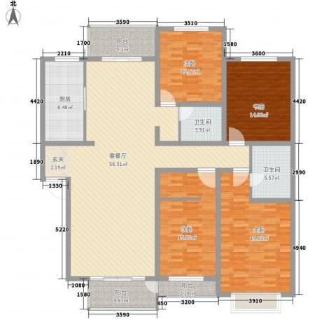 永长小区4室1厅2卫1厨210.00㎡户型图
