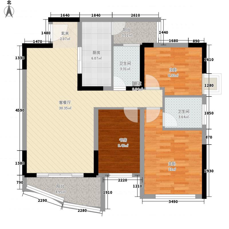 龙湖枫香庭117.00㎡户型3室