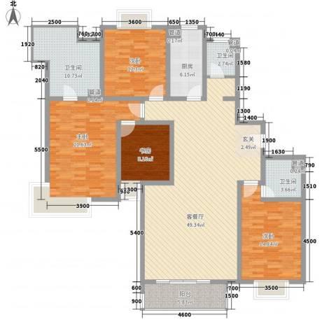 郡原美村4室1厅3卫1厨192.00㎡户型图