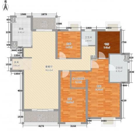 世茂世界湾4室1厅2卫1厨172.00㎡户型图