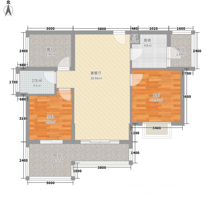 招商雍景湾135.20㎡6C栋B户型3室2厅2卫1厨