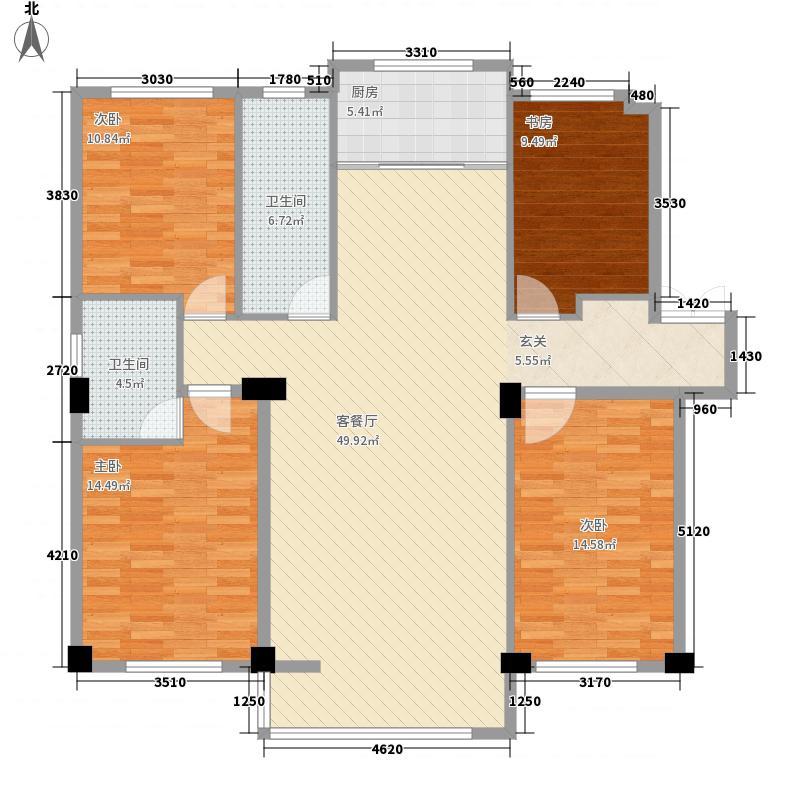 颐和香榭145.00㎡户型3室2厅2卫1厨