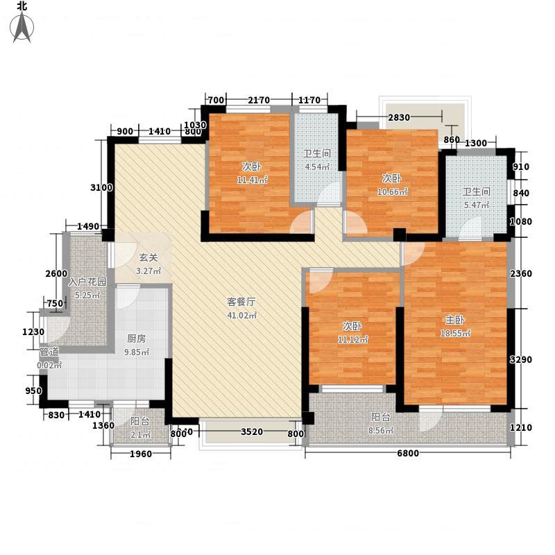 泰禾红树林182.00㎡A7A8A10#A、D户型4室2厅2卫1厨