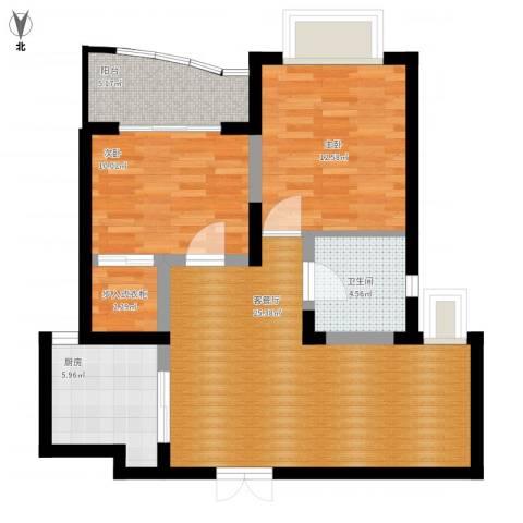 秋月枫舍2室1厅1卫1厨97.00㎡户型图