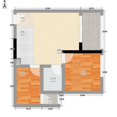 天烽新地2室1厅1卫0厨56.00㎡户型图