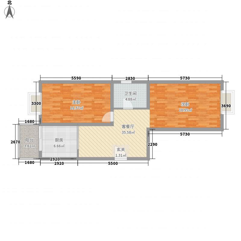 七里河水电小区户型2室