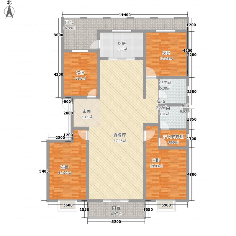 宁达・钻石街区237.30㎡A2段单元A2户型4室2厅2卫1厨