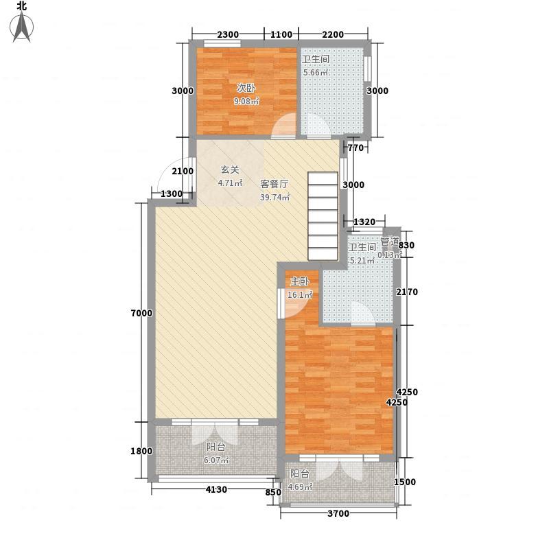 花桥一村户型2室2厅