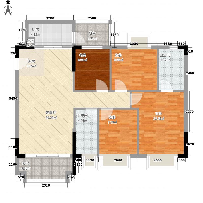 阳光粤港三期113.60㎡14栋三层02户型4室2厅2卫1厨