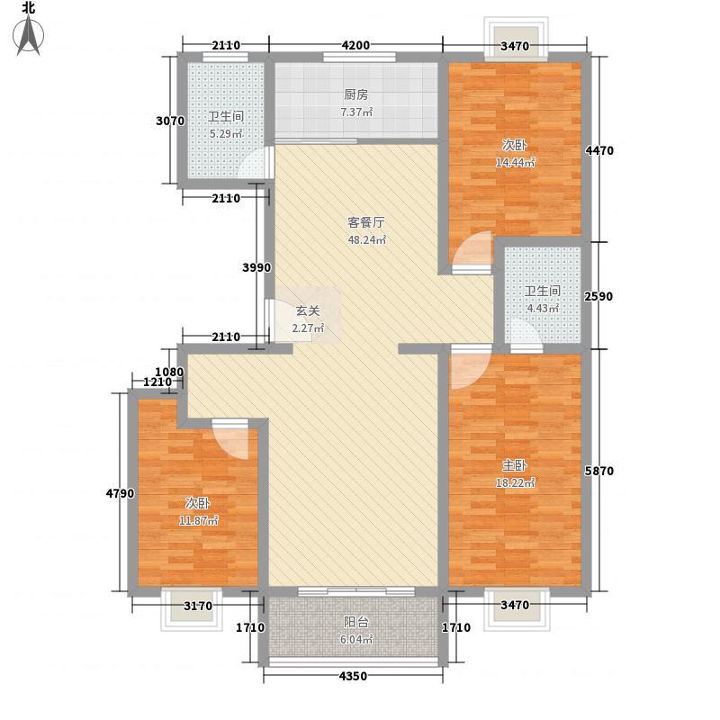 浞景翠园164.00㎡高层住宅户型3室2厅2卫1厨