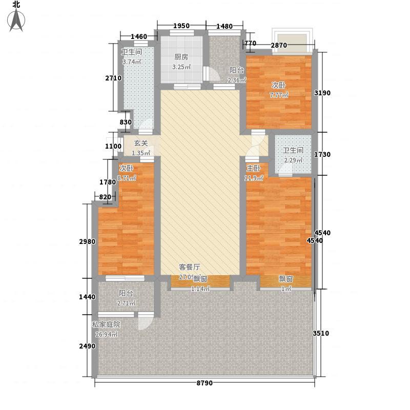 在水一方14.13㎡G户型3室2厅2卫1厨
