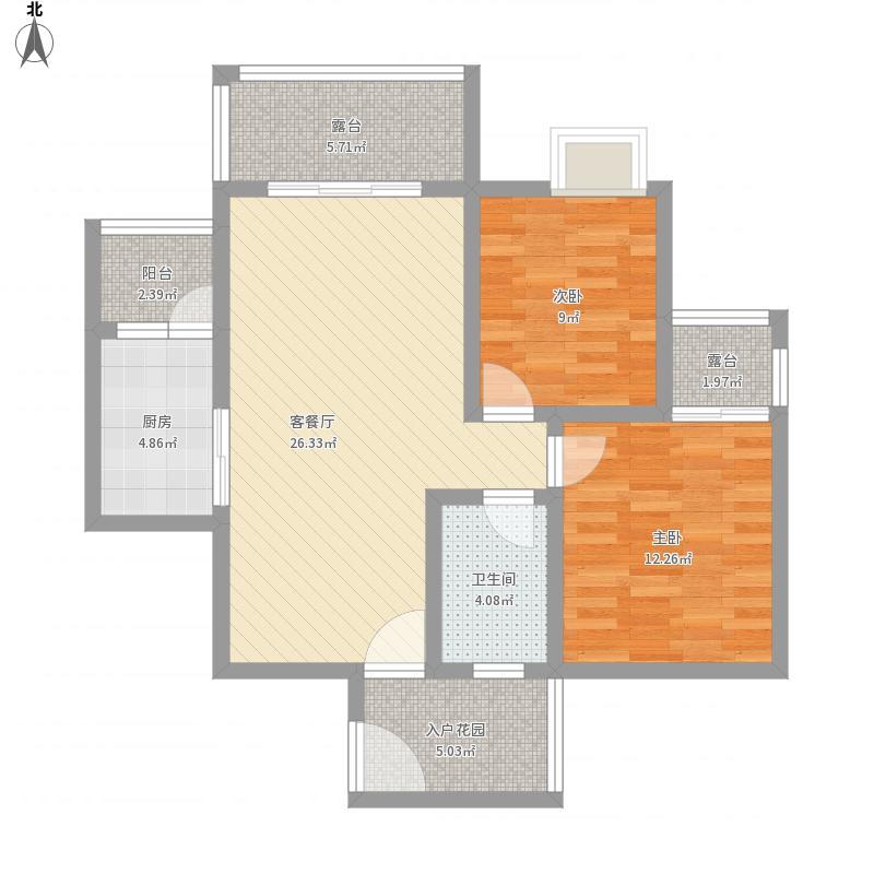 福康瑞琪曼国际社区面积:93.00平米