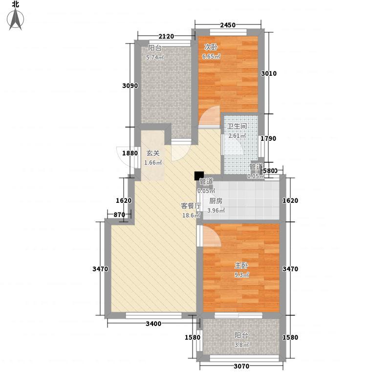 周新中路75.00㎡小区户型2室